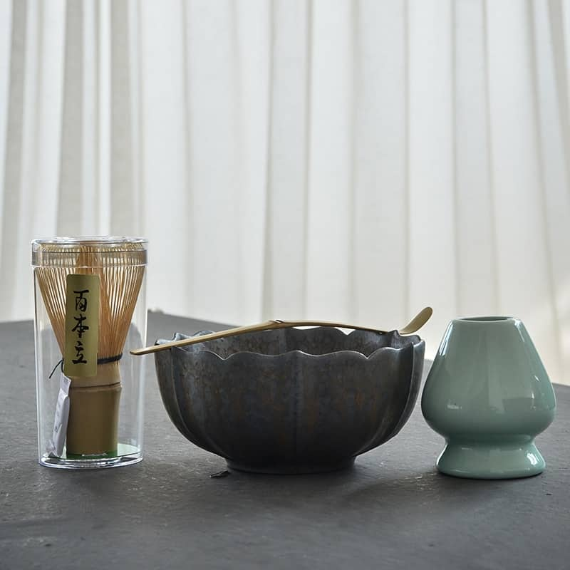 A glass bowl on a table