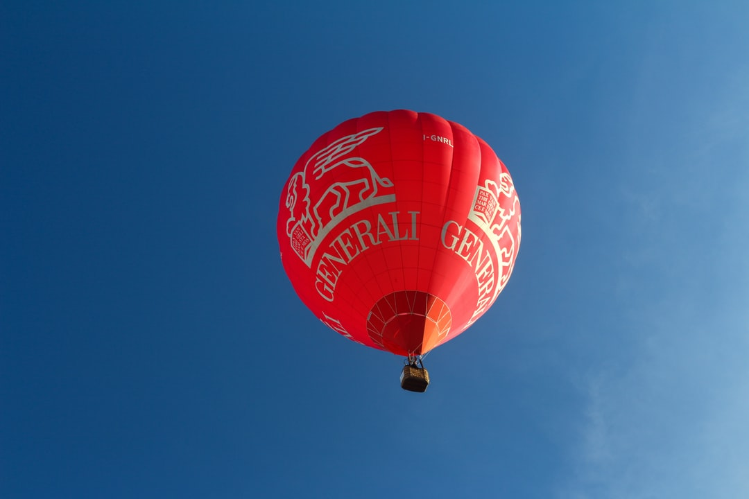 A large balloon in the sky
